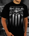 Mens Black Skull Flag Shirt