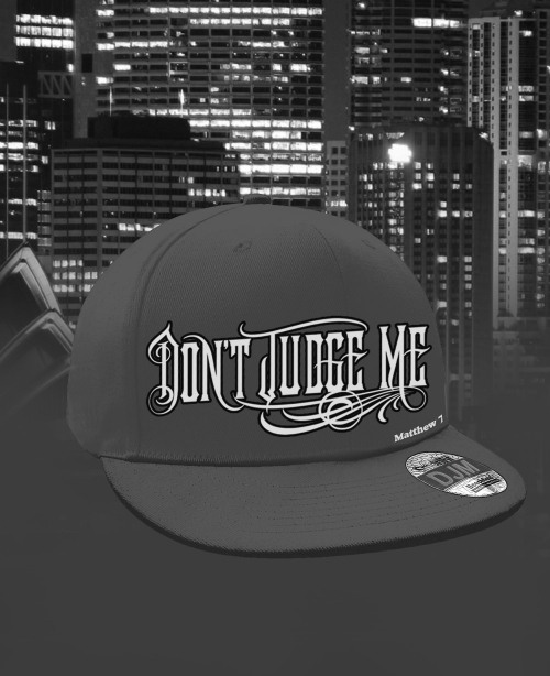 dont_judge_me_mens_MVP_logo_flat_beak_gray_mini
