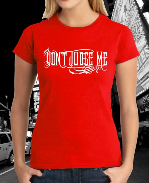 dont_judge_me_original_logo_tshirt_red_ladies_mini